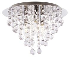 Bright Star Lighting Bright Star - Chrome Ceiling Fitting - 6007226051483 | Buy Online in South Africa | takealot.com Bright Stars, Polished Chrome, Clear Acrylic, Chandeliers, South Africa, Ceiling Lights, Crystals, Lighting, Glass