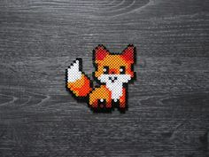 Renard Kawaii Perles Hama / Kawaii Fox Perler Beads – … – Famous Last Words Quilting Beads Patterns Perler Bead Designs, Easy Perler Bead Patterns, Perler Bead Templates, Hama Beads Design, Diy Perler Beads, Perler Bead Art, Melty Bead Patterns, Beading Patterns, Jewelry Patterns