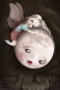 The Moth and the Moon by ~meluseena on deviantART