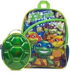 Your child will be saying Ninja Turtle Backpack, Lunch Box Set, Ninja Turtle Party, 12 X 5, Kids Backpacks, Teenage Mutant Ninja Turtles, Shells, Children, Bags