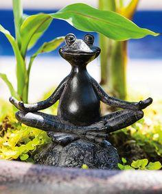 Another great find on #zulily! Yoga Frog Garden Statue #zulilyfinds