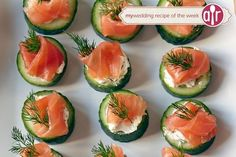 Cucumber Cups with Dill and Salmon