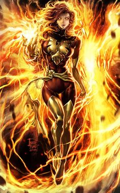 Jean Grey - Dark Phoenix by Philip Tan, colours by Elmer Santos *