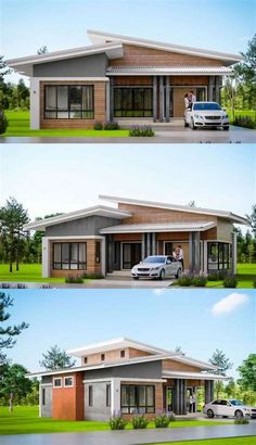 Flat Roof House Designs, House Roof Design, Simple House Design, Facade House, Single Floor House Design, Modern Bungalow House Design, Modern Roof Design, Modern Bungalow Exterior, Design Loft