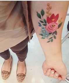 Vintage Floral Tattoo