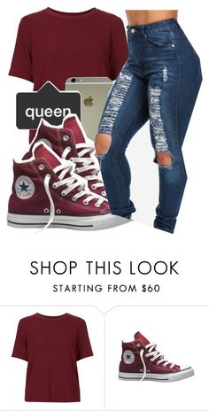 * by princess-kia54321 on Polyvore featuring Topshop and Converse