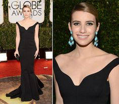Emma Roberts Golden Globe Awards 2014  #celebrities #redcarpet