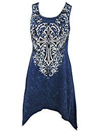 New Vocal Women Tunic Tank Shirt Shark Bite Cross Scroll Tribal Scoop Neck Mineral Wash online. Find the perfect Love Stitch Tops-Tees from top store. Sku JRUR58835PDYY74503