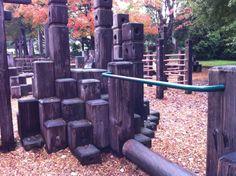 wooden boat playground