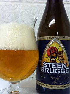 Steenbrugge Triple, 8.7% 9/10 Brewery Palm, Steenhuffel Belgium. Wonderful triple. The Tripel is brewed with Gruut (a blend of herbs) that was historically a precursor to the use of hops in the region from which this beer originates.