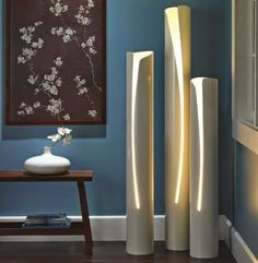 Pipe DIY Projects - 5 Things You Can Make - Bob Vila For this PVC DIY, all you need is a jigsaw and a lamp kit.For this PVC DIY, all you need is a jigsaw and a lamp kit. Decor, Home Diy, Diy Lamp, Diy Flooring, Diy Lighting, Diy Home Decor, Home Decor, Diy Floor Lamp, Pvc Projects