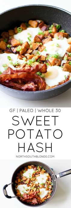 The ultimate sweet potato breakfast for champions. Easy to make and loaded with protein, fibre, and necessary vitamins to kick start your day! Click thru for the recipe. Gluten-Free Breakfast | Paleo Breakfast | Whole 30 Breakfast | Easy | Healthy | Weight Loss | Wholesome | Hearty | Holiday & Special Occasion Breakfast | Brunch | Lunch | All Day Breakfast Recipes | Low carb | Low Calorie | Nutritious | Family Recipes |