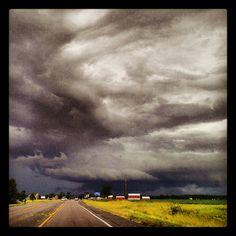 Storm over St. Johns MI