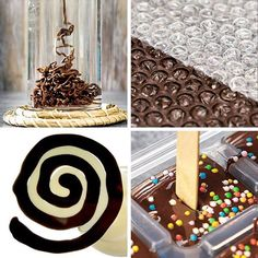 Sweet chocolate hacks for chocoholics! 🍫🍫🍫- Sweet chocolate hacks for chocoholics! 🍫🍫🍫 Rocky Mountain Chocolate Factory is an international… - Cake Decorating Videos, Cake Decorating Techniques, Candy Recipes, Sweet Recipes, Dessert Recipes, Chocolate Art, Chocolate Factory, Dessert Decoration, Chocolate Decorations