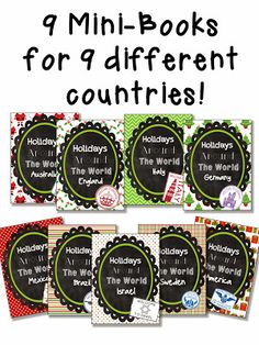 Christmas Around the World / Holidays around the World Printable Unit. Close Read for Each Country including England, Australia, Italy, Germany, Mexico, Brazil, Israel, Sweden, and The United States (Plus a United States Freebie)