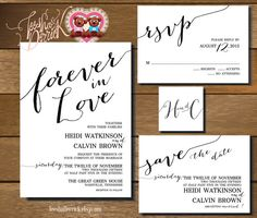 Forever in Love Printable Wedding Invitation by TeeshaDerrick