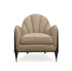 A sophisticated choice in both substance and style, this shapely chair encourages lingering conversations. Elegant wood trim outlines its mo Sofa Design, Furniture Design, Wood Trim, Modern Sofa, Room Chairs, Bed Room, Contemporary Furniture, Interior Design Living Room, Surfing