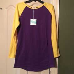 Tunic purple and gold Umgee purple tunic with yellow sleeves size medium Tops Tunics