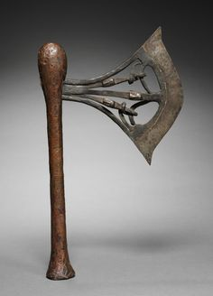 Songye artists working in various metals produced a variety of ornamental objects, like this one used as an insignia of high office. Each column supporting the blade was decorated with a face, then Cleveland Museum Of Art, Tribal Art, Types Of Art, Detailed Image, African Art, Axe, Artist At Work, Precious Metals, Objects