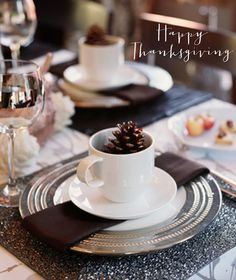 """Happy Thanksgiving Dinner Plate Setting"" FROM: birdie to be"