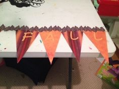 Happy Fall paper banner