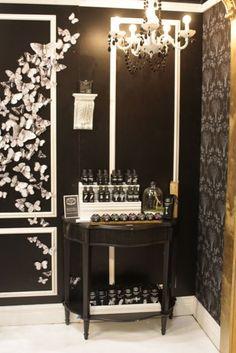 Margot Elena's Tokyo Milk Dark trade show booth