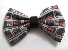For the girly nerds: Handmade Video Game Hair Bows And Bow Ties