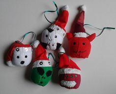 Christmas Horror inspired Baubles £12.00 for all 5