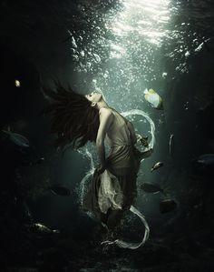 Montagem: Garota embaixo do Mar | ::Tutoriais Photoshop::