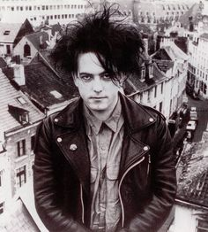 Robert Smith, on a roof in Brussels 1987. From uncut magazine