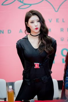 Photo album containing 20 pictures of Mijoo South Korean Girls, Korean Girl Groups, Lovelyz Mijoo, Black Widow Cosplay, Aesthetic People, Korean Entertainment, First Girl, Red Lace, Beautiful Asian Girls