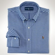 Custom-Fit Gingham Oxford - Polo Ralph Lauren Sale - RalphLauren.com