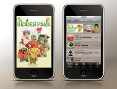 The Hidden Park - iphone app by Marco Palmieri, via Behance