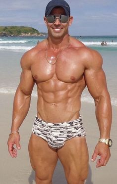 This muscley gay hot hunk gets hard love