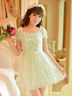 Mango Doll - Green Lace Princess Dress, $44.00 (http://www.mangodoll.com/all-items/green-lace-princess-dress/)