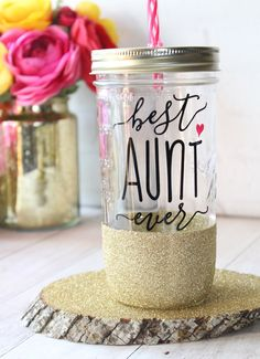 Gift for Aunt / Best Aunt Ever / Aunt to Be Gift / Gifts for Aunts / Aunt Cup / Aunt Pregnancy Reveal Gift / Aunt Mug - DIY Gifts Wedding Ideen Christmas Gifts For Aunts, Homemade Christmas Gifts, Christmas Ideas, Christmas Stuff, Family Christmas, Aunt Birthday, Birthday Gifts, 15th Birthday, Birthday Ideas