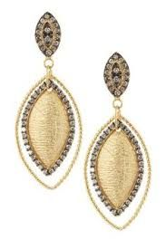 Image result for double tear drop earrings sliced