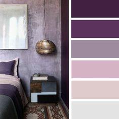100 Color Inspiration Schemes : Mauve + Purple Color Palette #color #palette #mauve