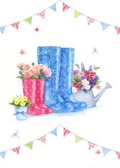 Leading Illustration & Publishing Agency based in London, New York & Marbella. Flower Images, Flower Art, Scrapbook Embellishments, Cute Illustration, Vintage Paper, Artist Art, Art Tutorials, Cardmaking, Poster