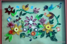Wall Decor Frame. Quilled.