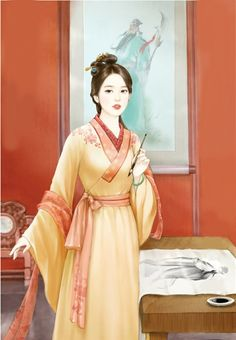 Ancient Beauty, Ancient Art, Chinese Painting, Chinese Art, Chinese Culture, Chinese Drawings, Art Of Beauty, Beauty Girls, Painting Of Girl