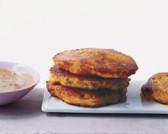 "Ecuadorian Potato Cakes with Peanut Sauce - llapingachos (""yop-in-GAH-chos"")"