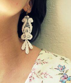 lace earrings #jewelry #pretty