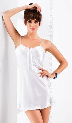 Irall Aria Nightdress White. Satin BowsNightgownWhite ShortsCamisole BeautifulSexyPajamaShirtNight Gown 4c0823a47