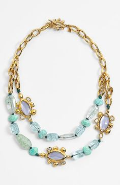 Free shipping and returns on Alexis Bittar 'Elements' Link & Stone Necklace at Nordstrom.com. The lavish mix of colorful stones, glittering Swarovski crystals and textured metalwork characteristic of designer Alexis Bittar blossoms in this memorable layered-looking necklace.
