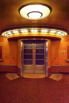 First Class Swimming Pool Entrance, RMS Queen Mary #Art #Deco #1930s Cunard's luxury ocean liner photo by Non Paratus, via Flickr