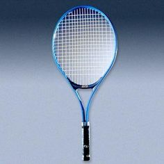 Aluminum 23-inch Youth Tennis Racket with 3.875-inch handle by CSI Cannon Sports. $17.75. This light-weight blue aluminum racket is right for the younger player. Also great for teaching the beginner in a graduated length method [GLM]. Mid-size, wide body racket is nylon-strung, with grommet strips and bumper. Synthetic leather grip. 7/8-inch [23 mm] wide tubing. 100 sq. in. of hitting surface. Thousands sold to U.S.T.A. programs. Use model #5522 for people up to 3ft...