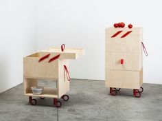 Trolley with drawers OPÉ by Miniforms design Valentina Carretta