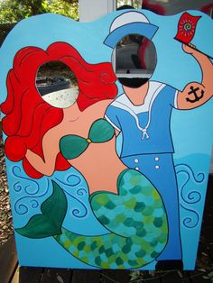 My Little Mermaid and Sailor or Pirate Photo Prop & Event Decoration Sea Life Listing