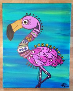 Liza Flamingo By Kendall Snyder by KendiiArt on Etsy https://www.etsy.com/listing/220592826/liza-flamingo-by-kendall-snyder